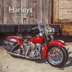 Harleys 2021 – Wand-Kalender – Broschüren-Kalender – A&I – 30×30 – 30×60 geöffnet