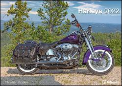 Harleys 2022 – Wand-Kalender – 42×29,7 – Motorrad von Popkes,  Christian