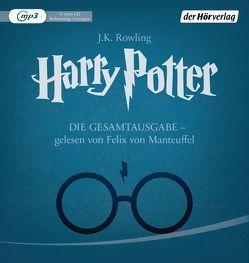 Harry Potter – Die Gesamtausgabe – gelesen von Felix von Manteuffel von Fritz,  Klaus, Manteuffel,  Felix von, Rowling,  J. K.