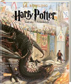 Harry Potter und der Feuerkelch (farbig illustrierte Schmuckausgabe) (Harry Potter 4) von Fritz,  Klaus, Kay,  Jim, Rowling,  J. K.