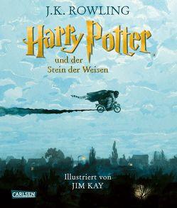 Harry Potter und der Stein der Weisen (farbig illustrierte Schmuckausgabe) (Harry Potter 1) von Kay,  Jim, Rowling,  J. K.