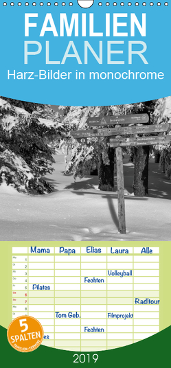 Harz-Bilder in monochrome – Familienplaner hoch (Wandkalender 2019 , 21 cm x 45 cm, hoch) von Levi,  Andreas