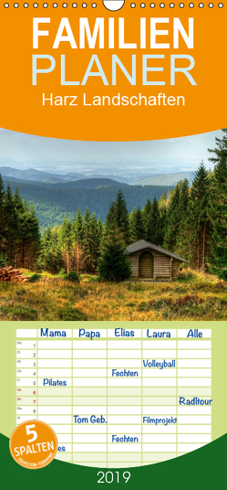 Harz Landschaften – Familienplaner hoch (Wandkalender 2019 , 21 cm x 45 cm, hoch) von Gierok,  Steffen