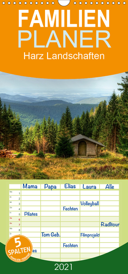 Harz Landschaften – Familienplaner hoch (Wandkalender 2021 , 21 cm x 45 cm, hoch) von Gierok,  Steffen
