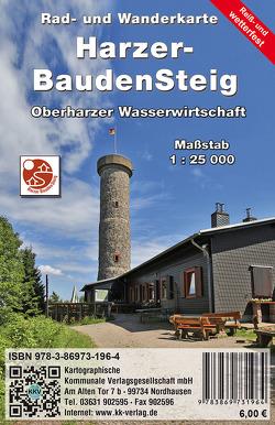 Harzer BaudenSteig von Kartographische Kommunale Verlagsgesellschaft mbH