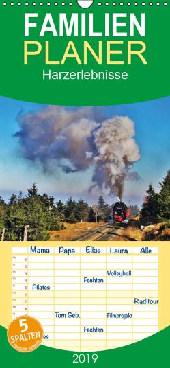 Harzerlebnisse – Familienplaner hoch (Wandkalender 2019 , 21 cm x 45 cm, hoch) von Janke,  Andrea