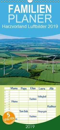 Harzvorland Luftbilder 2019 – Familienplaner hoch (Wandkalender 2019 , 21 cm x 45 cm, hoch) von Schrader,  Ulrich