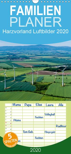 Harzvorland Luftbilder 2020 – Familienplaner hoch (Wandkalender 2020 , 21 cm x 45 cm, hoch) von Schrader,  Ulrich