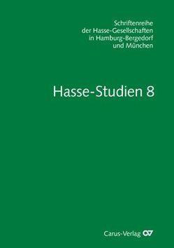 Hasse-Studien / Hasse-Studien 8 von Hochstein,  Wolfgang, Wiesend,  Reinhard