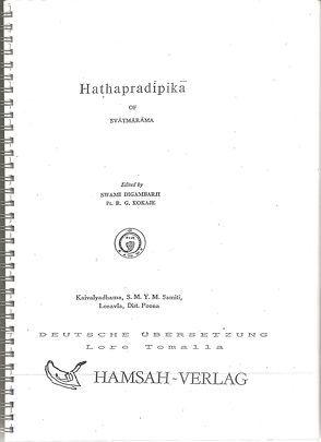 Hatha Pradipika von Digambarj,  Svami, Kokaje,  P R, Svatmarama