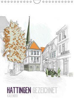 HATTINGEN GEZEICHNET (Wandkalender 2019 DIN A4 hoch) von N.,  N.