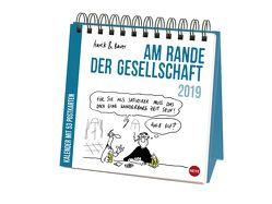 Hauck&Bauer Am Rande der Gesellschaft Aufstell-Postkartenkalender – Kalender 2019 von Bauer,  Dominik, Hauck,  Elias, Heye
