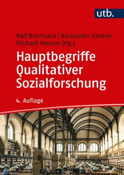 Hauptbegriffe Qualitativer Sozialforschung von Bohnsack,  Ralf, Geimer,  Alexander, Meuser,  Michael