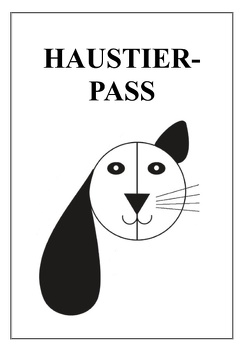 Haustier-Pass von Friedl,  Brigitte