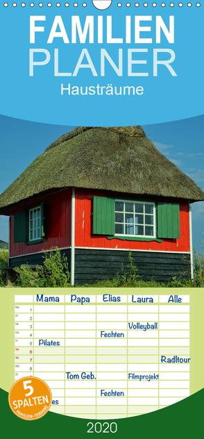 Hausträume – Familienplaner hoch (Wandkalender 2020 , 21 cm x 45 cm, hoch) von Just (foto-just.de),  Gerald