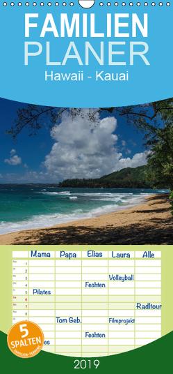 Hawaii – Kauai – Familienplaner hoch (Wandkalender 2019 , 21 cm x 45 cm, hoch) von Hitzbleck,  Rolf-Dieter