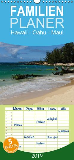 Hawaii – Oahu – Maui – Familienplaner hoch (Wandkalender 2019 , 21 cm x 45 cm, hoch) von Hitzbleck,  Rolf-Dieter