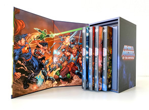 He-Man und die Masters of the Universe – Deluxe Collection von Abnett,  Dan, Bedard,  Tony, David,  Rob, Derenick,  Tom, Faßbender,  Jörg, Feritas,  Denis, Giffen,  Keith, Hidalgo,  Carolin, Johns,  Geoff, Kayanan,  Rafael, Mhan,  Pop, Porter,  Howard, Robinson,  James, Rother,  Josef, Salazar,  Edgar, Tan,  Philip S., Williams II,  Freddie E.