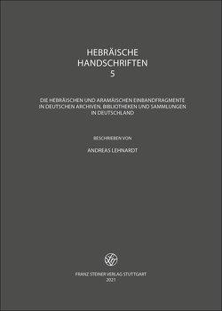 Hebräische Handschriften von Lehnardt,  Andreas