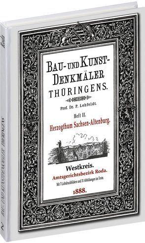 [HEFT 2] Bau- und Kunstdenkmäler Thüringens. Amtsgerichtsbezirk RODA 1888 von Lehfeldt,  Paul