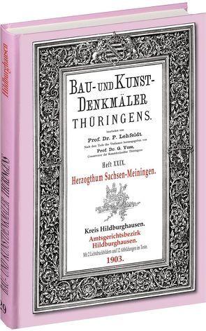 [HEFT 29] Bau- und Kunstdenkmäler Thüringens. Amtsgerichtsbezirk HILDBURGHAUSEN 1903 von Lehfeldt,  Paul, Voss,  Georg