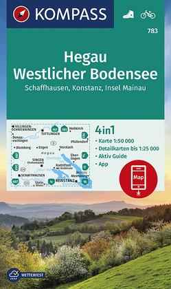 Hegau Westlicher Bodensee, Schaffhausen, Konstanz, Insel Mainau von KOMPASS-Karten GmbH
