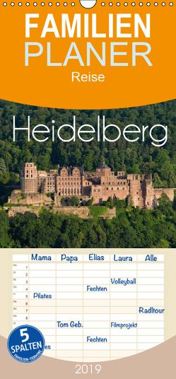 Heidelberg – Familienplaner hoch (Wandkalender 2019 , 21 cm x 45 cm, hoch) von Christopher Becke,  Jan