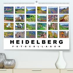 Heidelberg Fotocollagen (Premium, hochwertiger DIN A2 Wandkalender 2020, Kunstdruck in Hochglanz) von Liepke,  Claus
