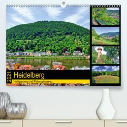 Heidelberg – Heiligenberg und Philosophenweg (Premium, hochwertiger DIN A2 Wandkalender 2021, Kunstdruck in Hochglanz) von Liepke,  Claus