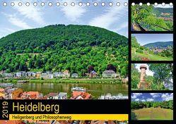 Heidelberg – Heiligenberg und Philosophenweg (Tischkalender 2019 DIN A5 quer) von Liepke,  Claus