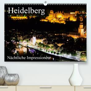 Heidelberg – Nächtliche Impressionen (Premium, hochwertiger DIN A2 Wandkalender 2020, Kunstdruck in Hochglanz) von Serce,  Mert