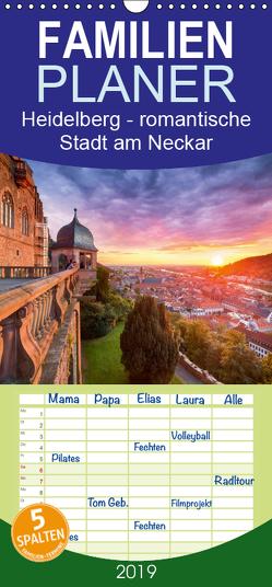 Heidelberg – romantische Stadt am Neckar – Familienplaner hoch (Wandkalender 2019 , 21 cm x 45 cm, hoch) von Christopher Becke,  Jan