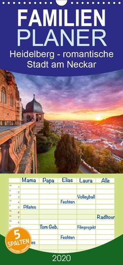 Heidelberg – romantische Stadt am Neckar – Familienplaner hoch (Wandkalender 2020 , 21 cm x 45 cm, hoch) von Christopher Becke,  Jan