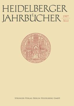 Heidelberger Jahrbücher von Kiesel,  Helmuth