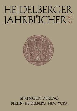 Heidelberger Jahrbücher von Schipperges,  H.