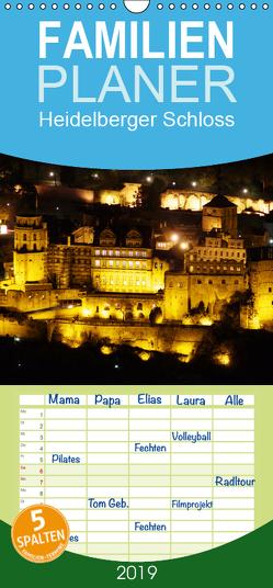 Heidelberger Schloss – Familienplaner hoch (Wandkalender 2019 , 21 cm x 45 cm, hoch) von Serce,  Mert