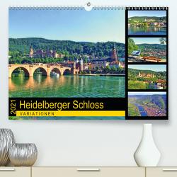 Heidelberger Schloss Variationen (Premium, hochwertiger DIN A2 Wandkalender 2021, Kunstdruck in Hochglanz) von Liepke,  Claus