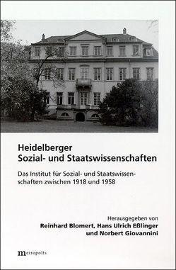 Heidelberger Sozial- und Staatswissenschaften von Blomert,  Reinhard, Brintzinger,  K R, Eãlinger,  Hans U, Giovannini,  Norbert, Jansen,  C, Markmann,  H
