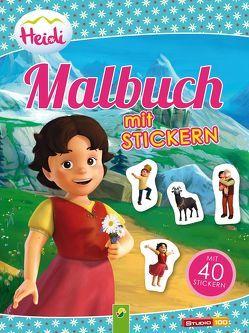 Heidi – Malbuch Stickern
