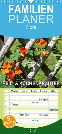 Heil- und Küchenkräuter – Familienplaner hoch (Wandkalender 2019 , 21 cm x 45 cm, hoch) von Geduldig,  Bildagentur