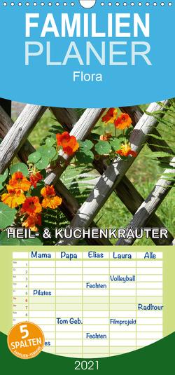 Heil- und Küchenkräuter – Familienplaner hoch (Wandkalender 2021 , 21 cm x 45 cm, hoch) von Geduldig,  Bildagentur