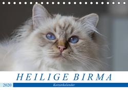 Heilige Birma Katzenkalender (Tischkalender 2020 DIN A5 quer) von Münch,  Michaela