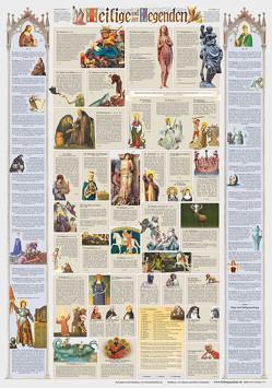 Heilige und ihre Legenden (Poster 70x100cm) von Doblies,  Dietwald