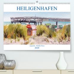 Heiligenhafen in Aquarell (Premium, hochwertiger DIN A2 Wandkalender 2020, Kunstdruck in Hochglanz) von Meier,  Wiebke