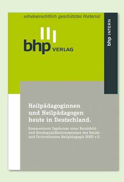Heilpädagoginnen und Heilpädagogen heute in Deutschland von Gulijk,  Wolfgang van, Pfeiffer,  Andreas, Weber,  Erik