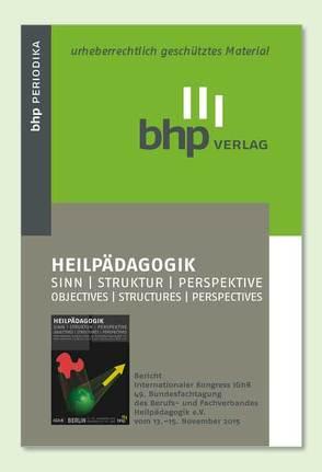 HEILPÄDAGOGIK Sinn/Struktur/Perspektive