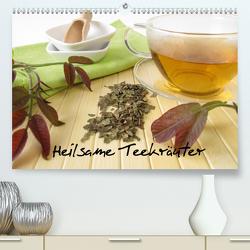 Heilsame Teekräuter (Premium, hochwertiger DIN A2 Wandkalender 2021, Kunstdruck in Hochglanz) von Rau,  Heike