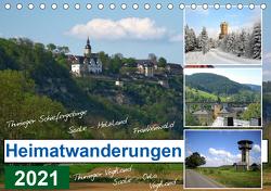 Heimatwanderungen 2021 (Tischkalender 2021 DIN A5 quer) von Müller,  Gerdhold