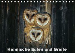 Heimische Eulen und Greife (Tischkalender 2019 DIN A5 quer) von Bachmeier,  Günter