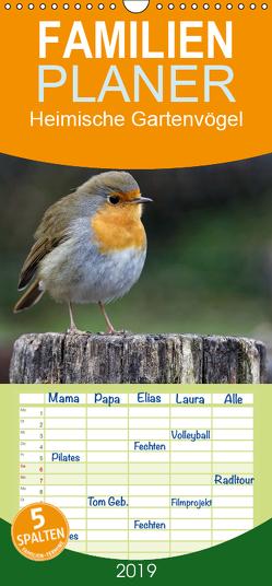 Heimische Gartenvögel – Familienplaner hoch (Wandkalender 2019 , 21 cm x 45 cm, hoch) von Wilczek,  Dieter-M.